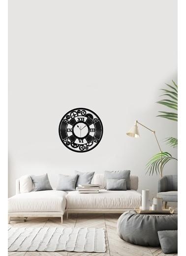 Angemiel Home ÇarkPleksi Duvar Saati Siyah